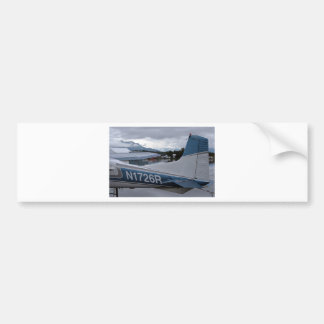 Flote el avión 8, capilla del lago, Anchorage, Ala Pegatina De Parachoque