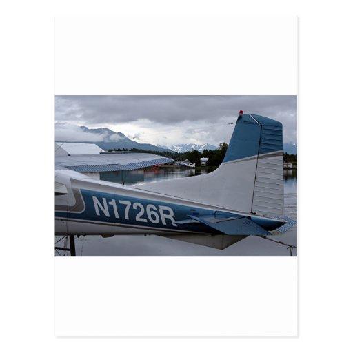 Flote el avión 8, capilla del lago, Anchorage, Tarjeta Postal