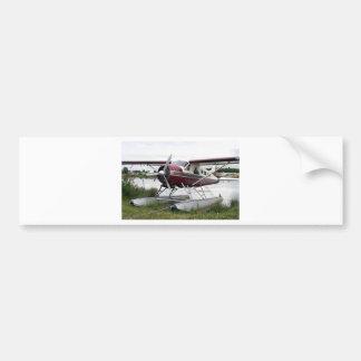 Flote el avión, capilla del lago, Anchorage, Alask Etiqueta De Parachoque