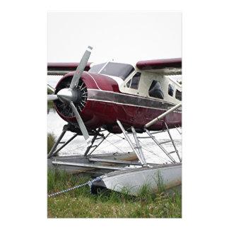 Flote el avión, capilla del lago, Anchorage, Alask Papeleria Personalizada