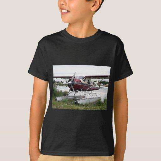 Flote el avión, capilla del lago, Anchorage, Playera