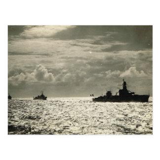 Flotilla de buques de guerra franceses postales