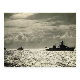 Flotilla of French naval vessels Postcard