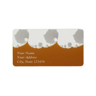Flotsam Gallet1 - Fractal Address Label