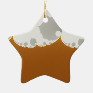 Flotsam Gallet1 - Fractal Double-Sided Star Ceramic Christmas Ornament
