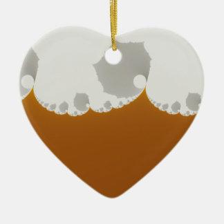 Flotsam Gallet1 - Fractal Double-Sided Heart Ceramic Christmas Ornament