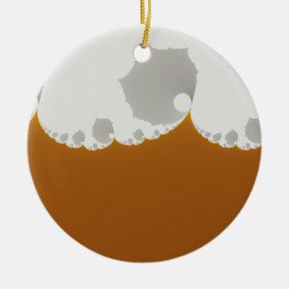 Flotsam Gallet1 - Fractal Double-Sided Ceramic Round Christmas Ornament
