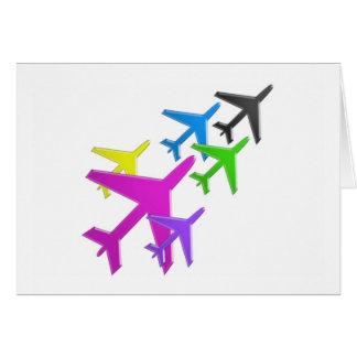 flotte d'avion cadeaux pour les enfants AEROPLANE Card