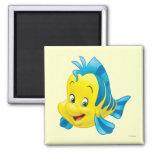 Flounder 2 Inch Square Magnet