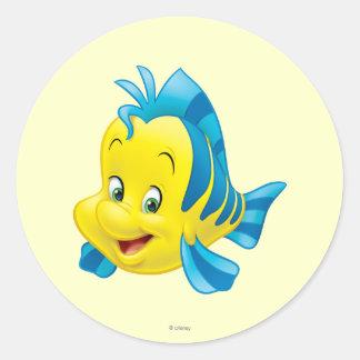 Flounder Classic Round Sticker