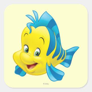 Flounder Square Sticker