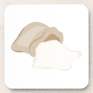 Flour Bag Drink Coasters