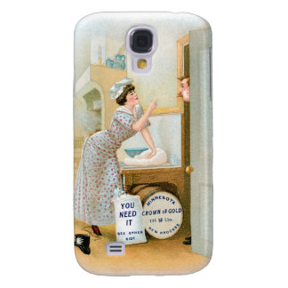 Flour Bakery Vintage Food Ad Art Galaxy S4 Cover