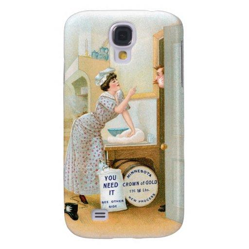 Flour Bakery Vintage Food Ad Art Galaxy S4 Covers