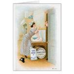Flour Bakery Vintage Food Ad Art Greeting Cards