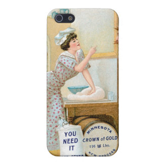 Flour Bakery Vintage Food Ad Art iPhone SE/5/5s Case