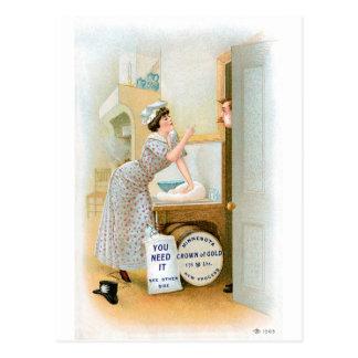Flour Bakery Vintage Food Ad Art Post Card