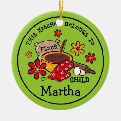Flour Child Personalized Ornament