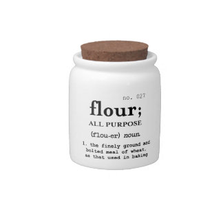 """Flour"" kitchen jar design Candy Jars"