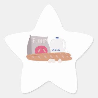 Flour & Milk Star Sticker
