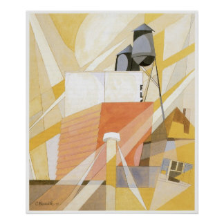 Flour Mill (Factory), Charles Demuth Poster