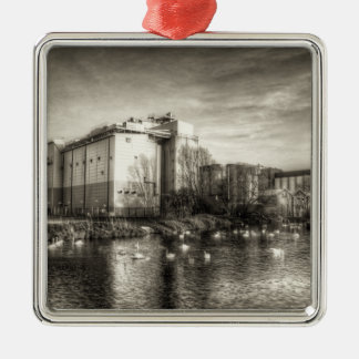 Flour Mill on the River Metal Ornament