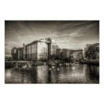 Flour Mill on the River Poster