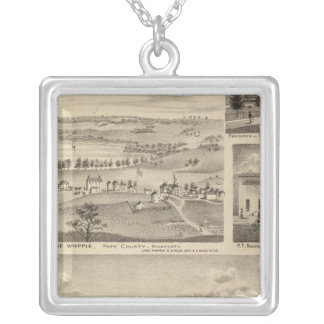 Flour Mills, Isenours Glenwood, Minnesota Silver Plated Necklace