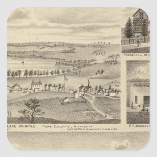 Flour Mills, Isenours Glenwood, Minnesota Square Sticker