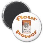 Flour Power 2 Inch Round Magnet