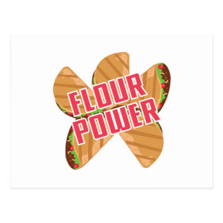 Flour Power Postcard
