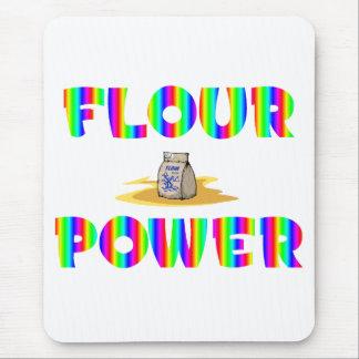 Flour Power Retro 70s Chef Mouse Pad