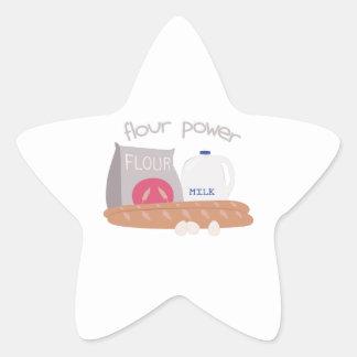 Flour Power Star Sticker