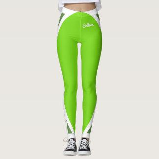 Flourescent Green on Green Leggings