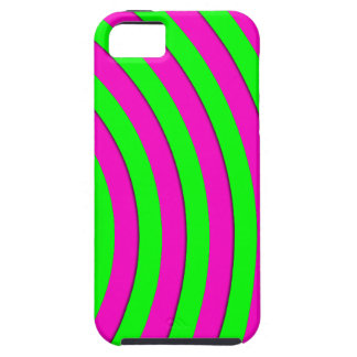 Flourescent neon pink and green stripes iPhone SE/5/5s case