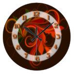 Flourish anaranjado rojo relojes