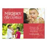 Flourish and Stripes Holiday Greeting Custom Invitation