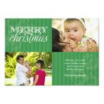 Flourish and Stripes Holiday Greeting Invite