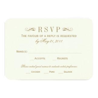 Flourish antiguo del oro de la tarjeta el | de invitaciones personalizada