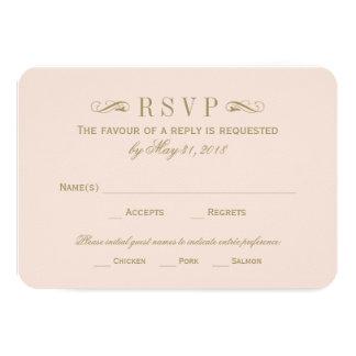 Flourish antiguo del oro de la tarjeta el | de invitacion personal