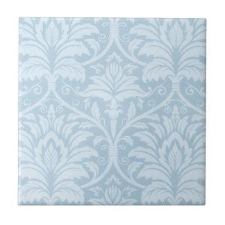 Flourish azul azulejo cuadrado pequeño