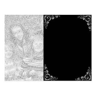 Flourish Black & White Postcard