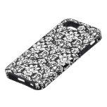 flourish blanco y negro del damasco iPhone 5 coberturas