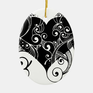 flourish ceramic ornament