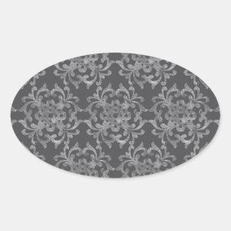 Flourish - Chalk Oval Sticker