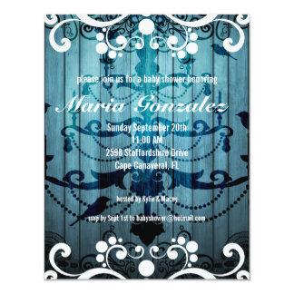 Flourish & Chandelier Baby Shower Invitation