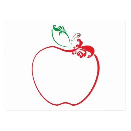 flourish de la manzana tarjetas postales