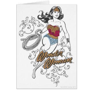Flourish de la Mujer Maravilla Tarjeta