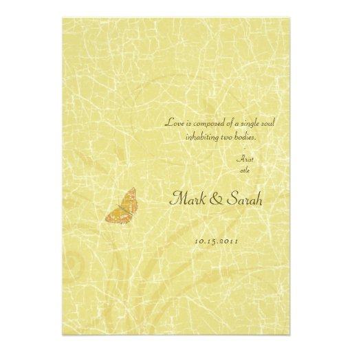 Flourish de oro de la mariposa del vintage que cas anuncios