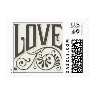 Flourish del amor del vintage sellos